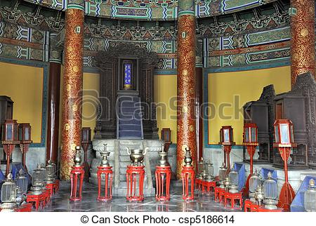 Stock Photo of Interior of The Imperial Vault of Heaven in the.
