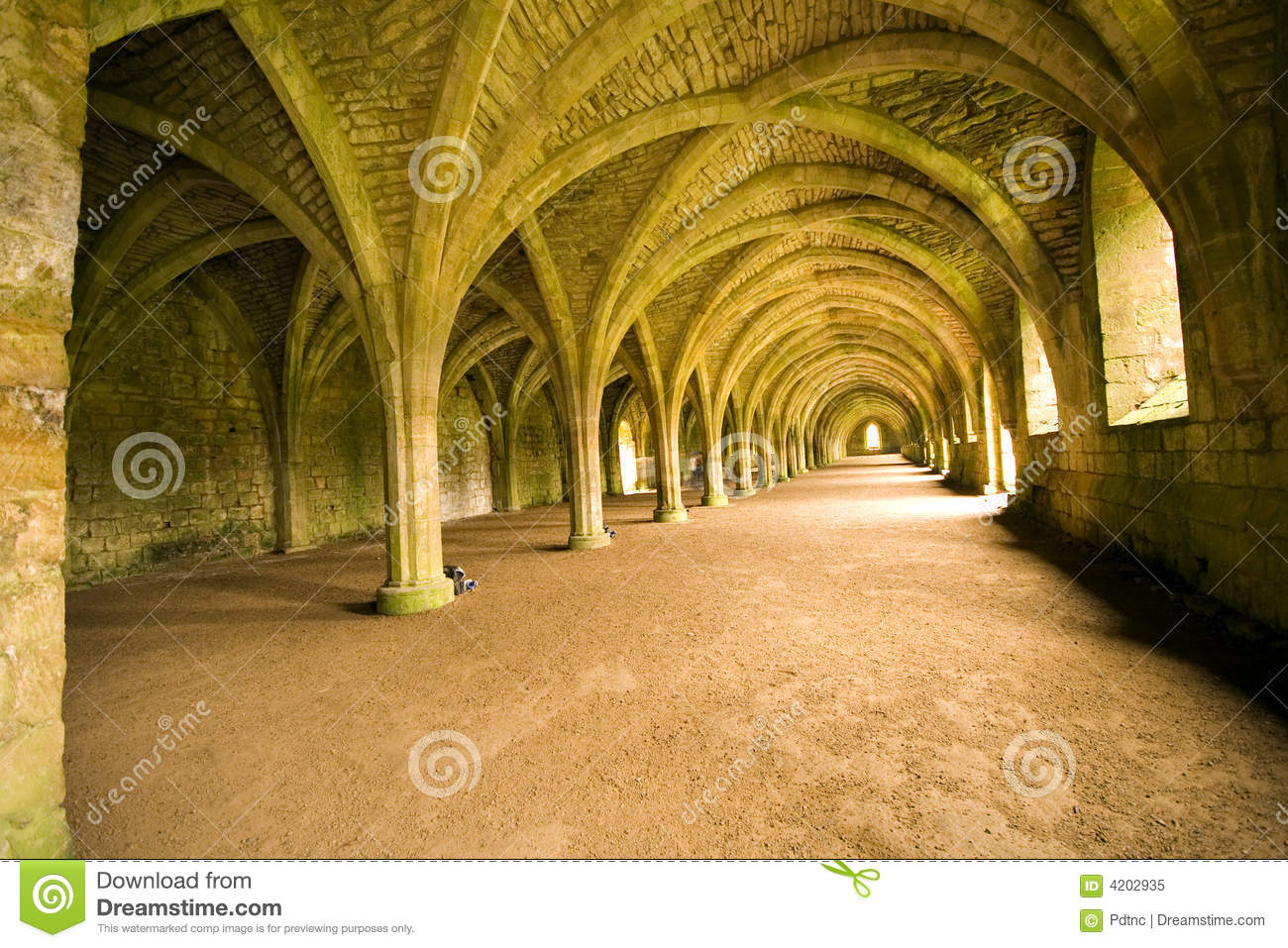 Vaulted Ceiling Royalty Free Stock Photo.