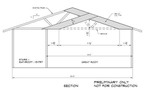 Can we modify our existing flat bottom trusses to create a vaulted.