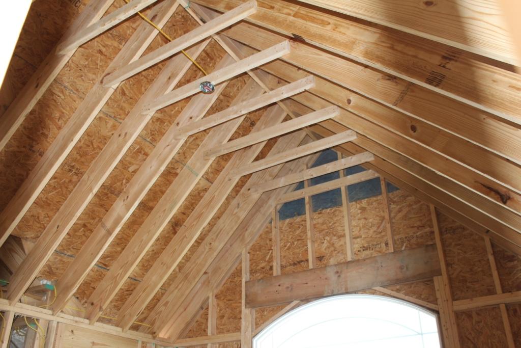Vaulted Ceiling Precautions.
