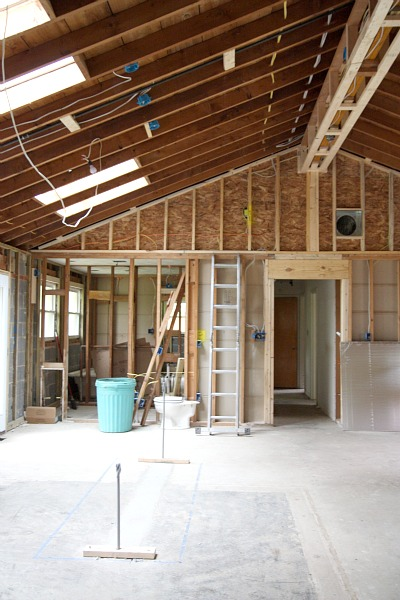 Vaulting the ceiling in a rancher and opening the floor plan.