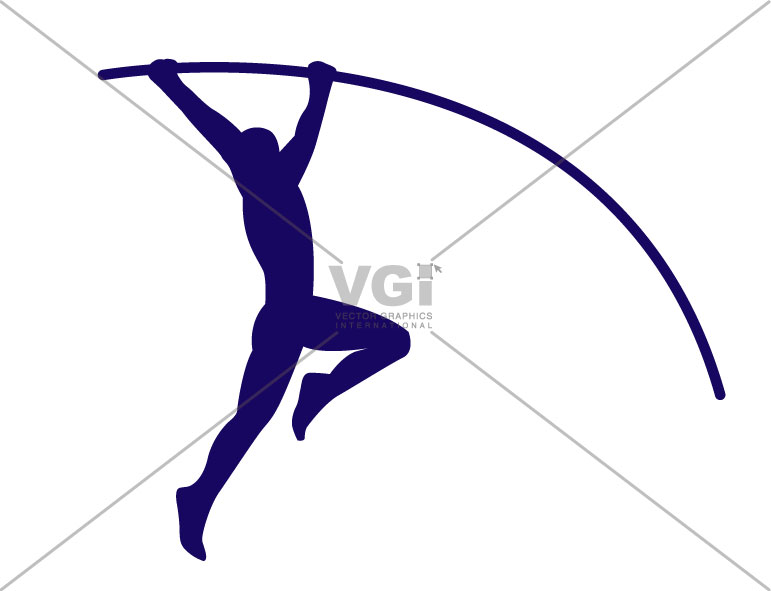 Pole vaulting clipart.