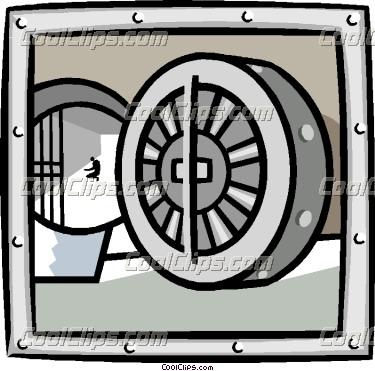 business bank vault Vector Clip art.