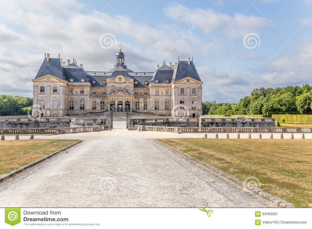 View Of The Central Building Of The Estate Of Vaux.