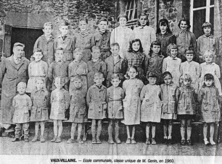 Photo de classe Ecole primaire Vaux Villaine de 1960, VAUX.