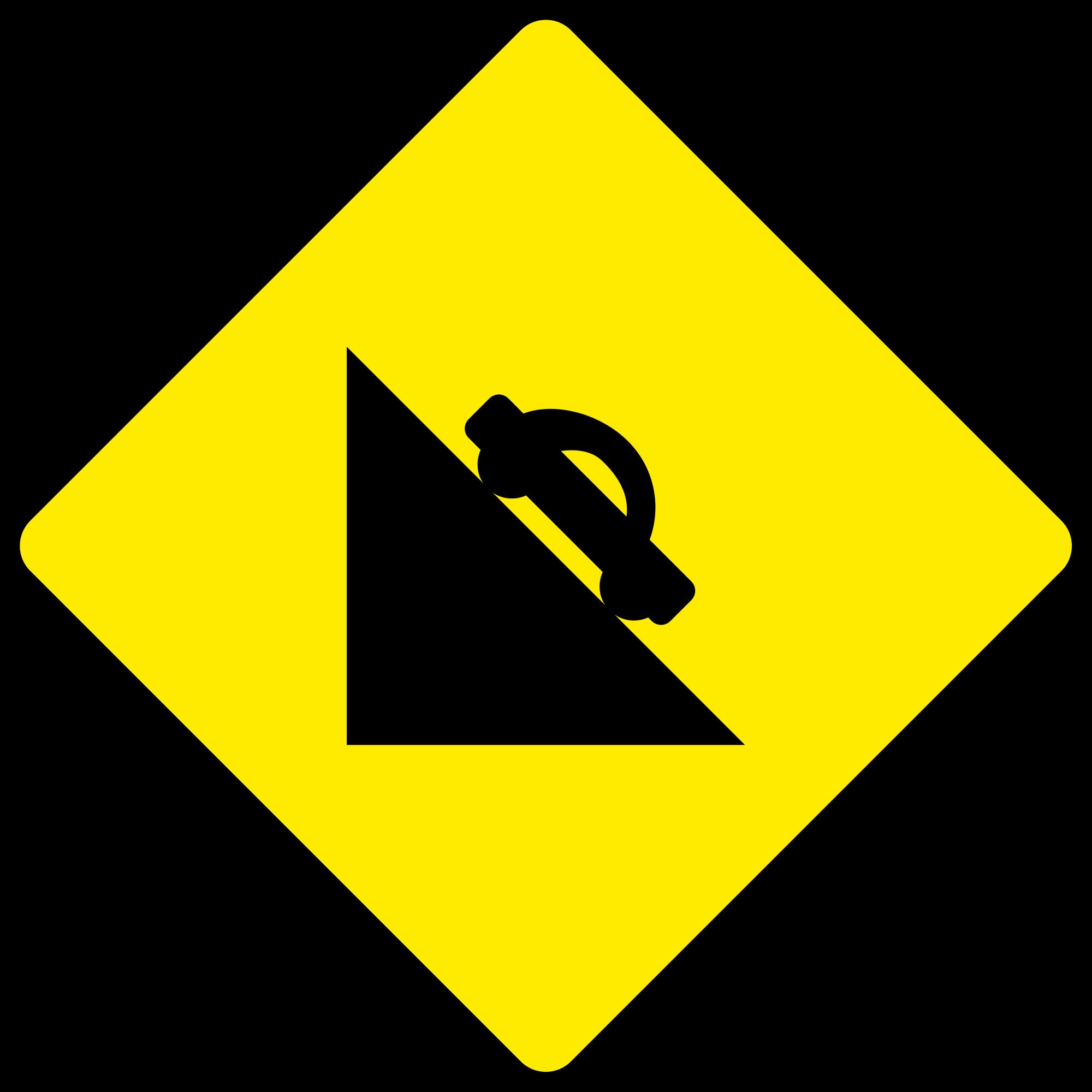 File:Ireland road sign W 105 (old).svg.