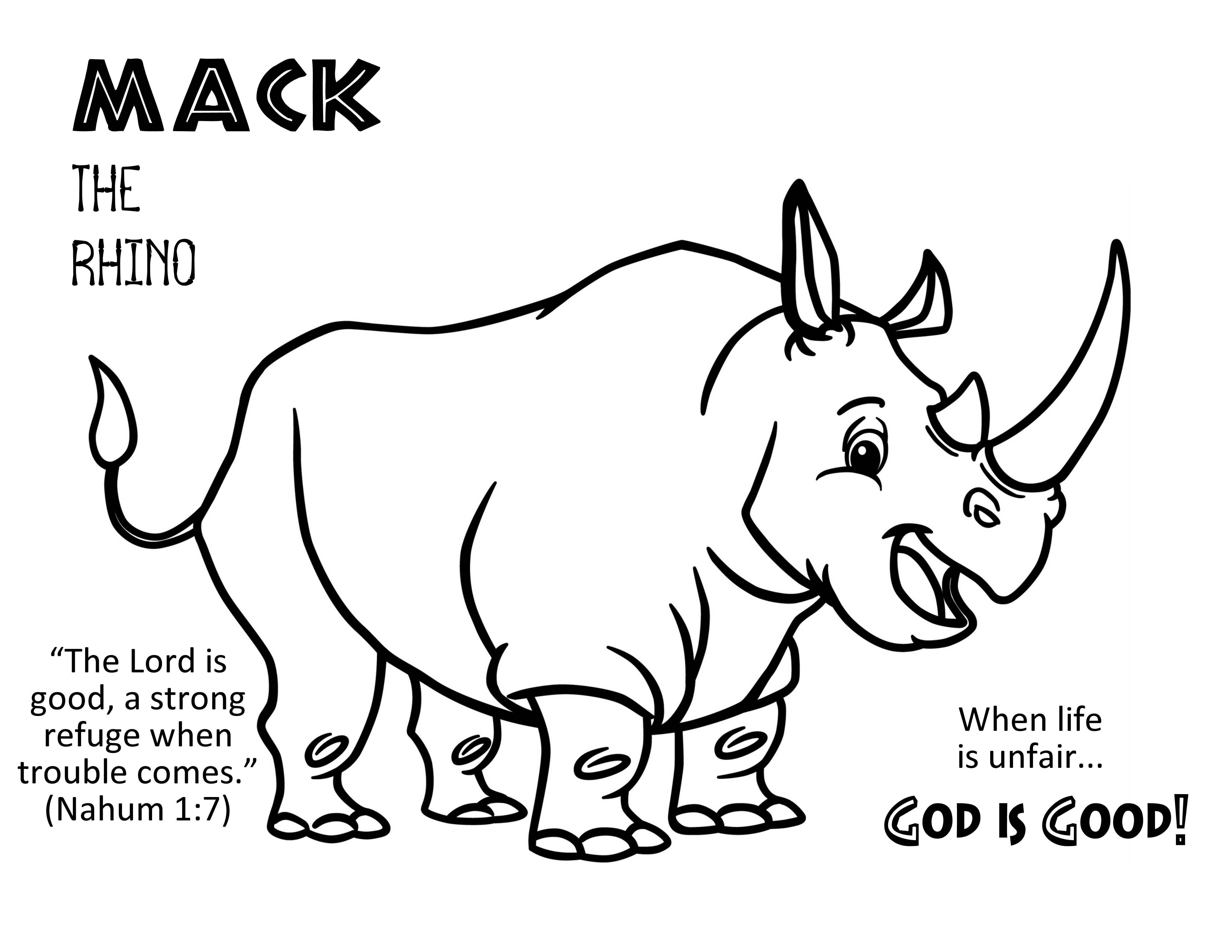 Roar VBS Day 1 Mack Coloring Page.
