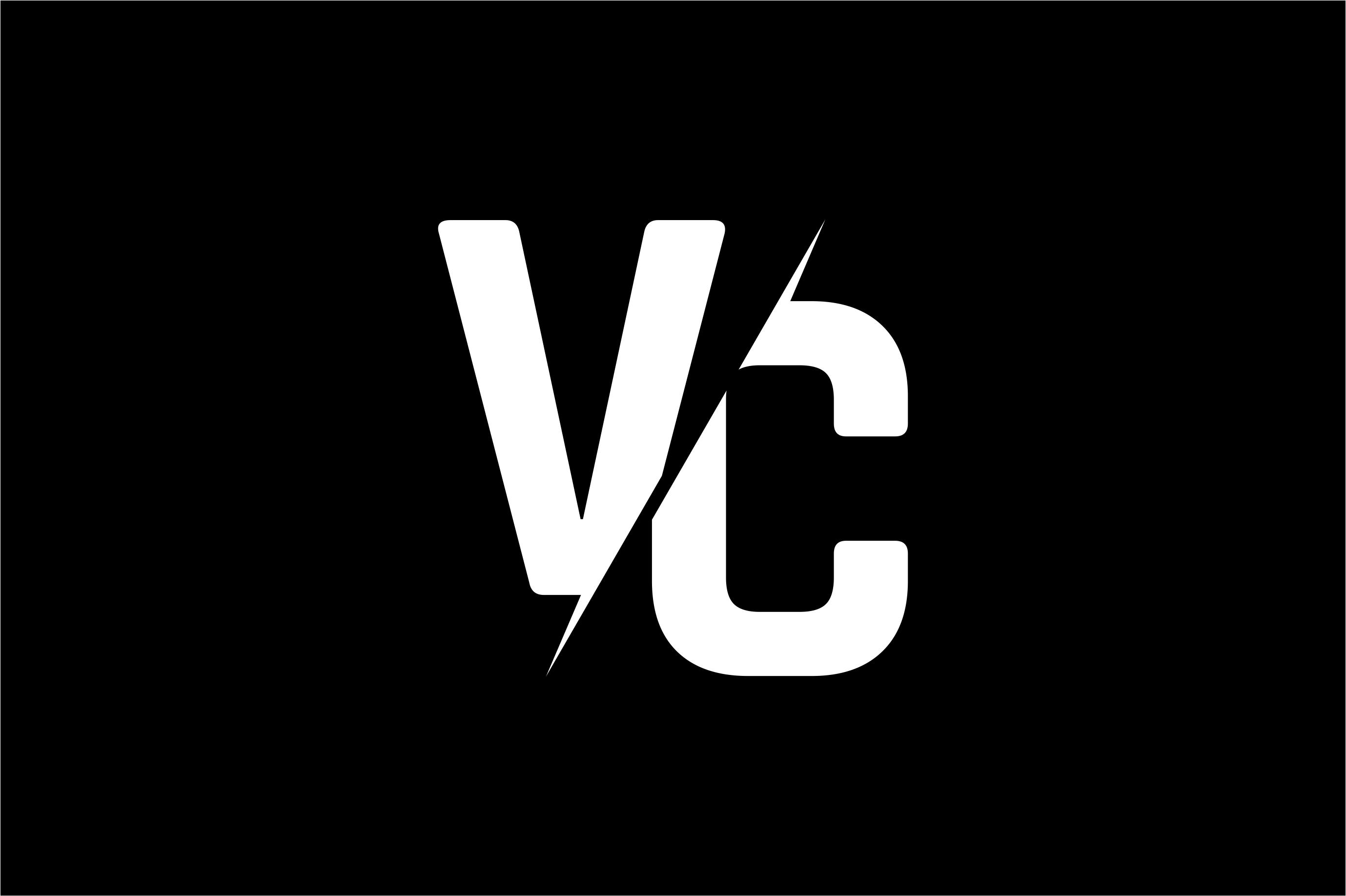 Monogram VC Logo Design.