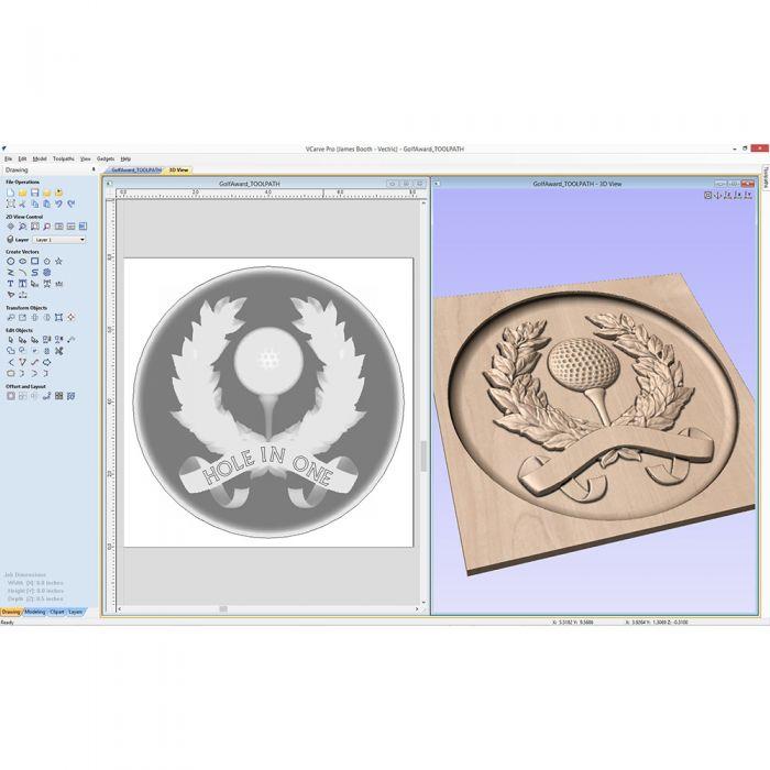 VCarve Pro 9.0 Software for CNC.