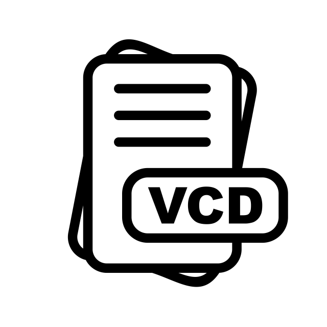 Vcd File Format Icon Design, Vcd File Format Icon, File.