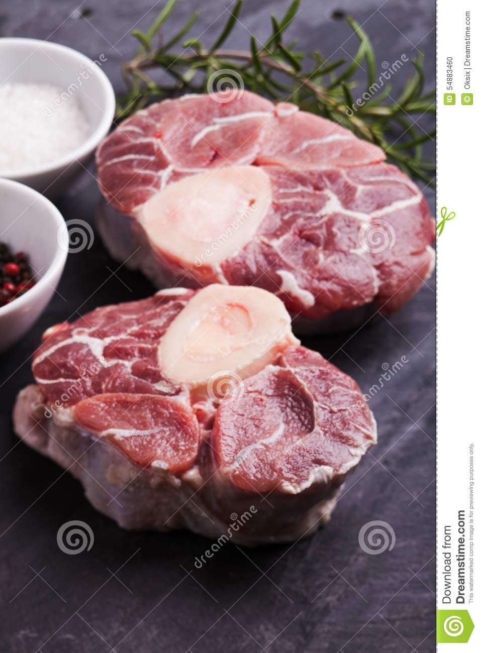 Cross Cut Veal Shank Stock Photo.