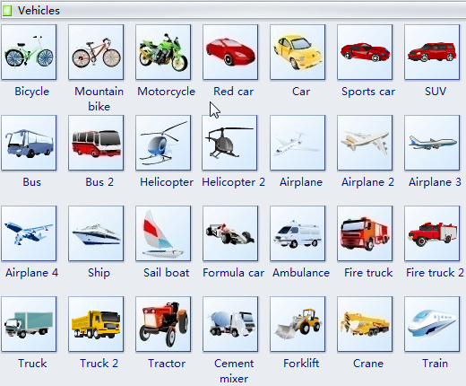 Vehicle Clipart for Word, Excel and PowerPoint.