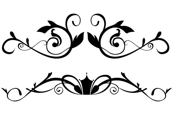 Vector Floral Ornamental Border Clip Art.