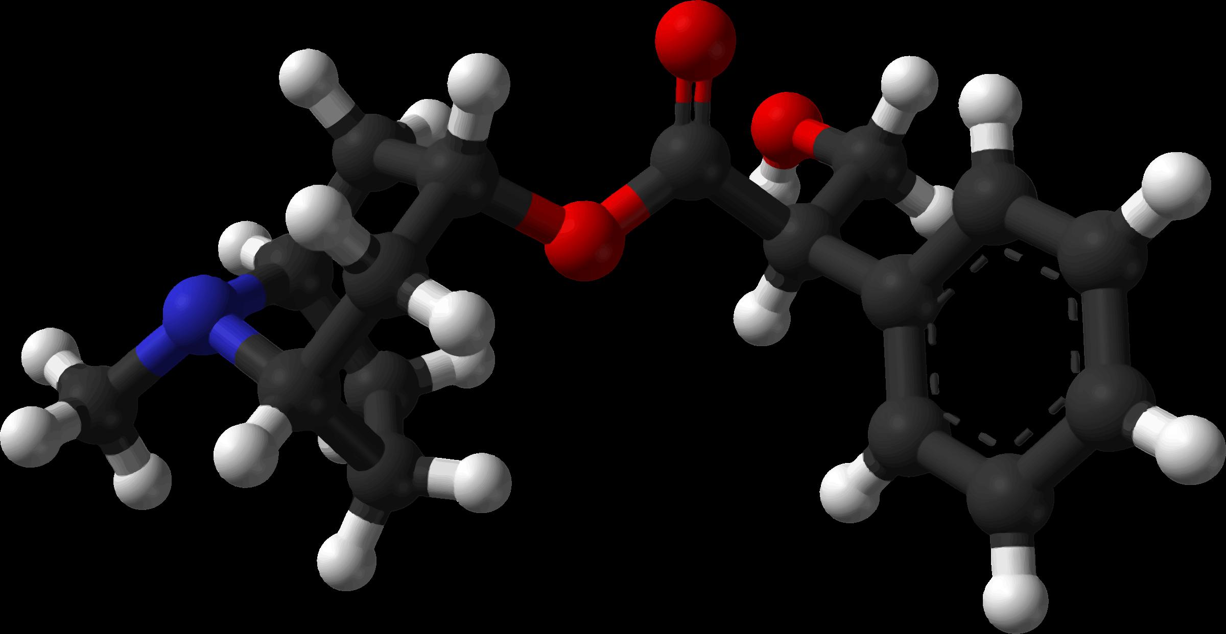 3d Model of Molecules Vector Clipart image.