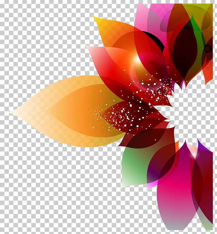 Color Flower Abstract Art Floral Design PNG, Clipart, Art.