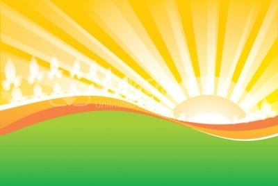Sunrise vector background.