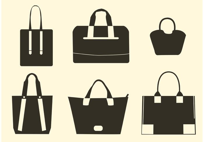Vector Hand Bag Silhouettes.