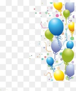 Birthday Balloons, Birthday Vector, Balloon, Balloons Vector.