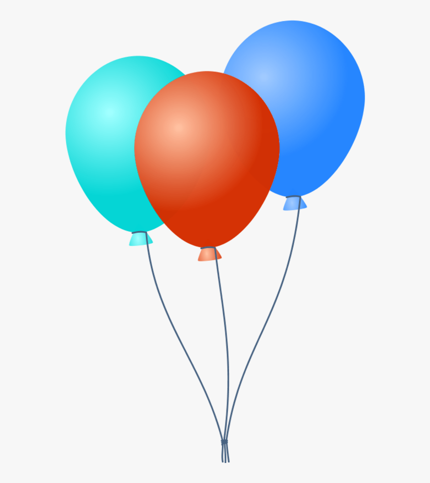 Transparent Party Balloons Clipart.