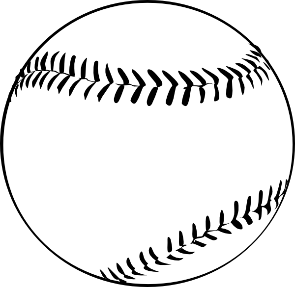 Baseball (b And W) Clip Art at Clker.com.