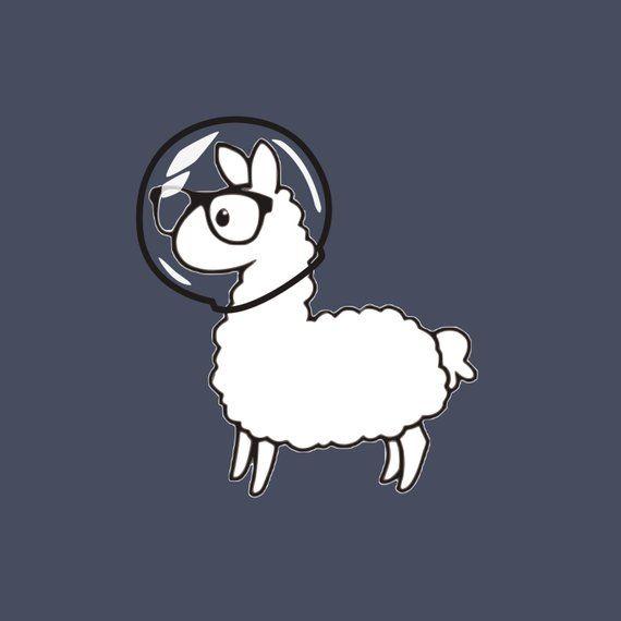 Space Llama Clip Art.