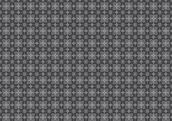 Free Batik Pattern Vector #7.