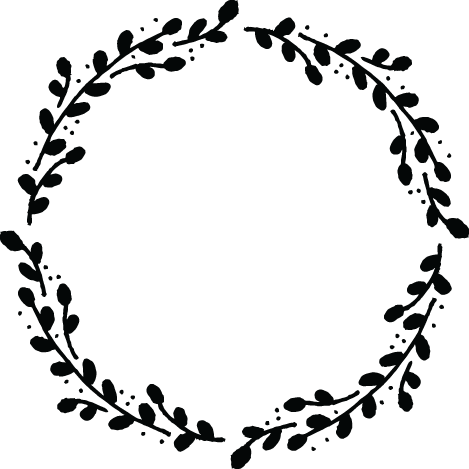 PNG Wreath Black And White Transparent Wreath Black And.