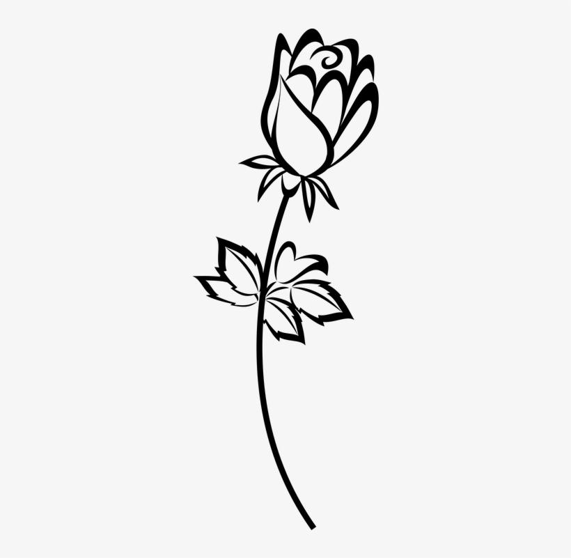 Belle Vector Rose Silhouette.