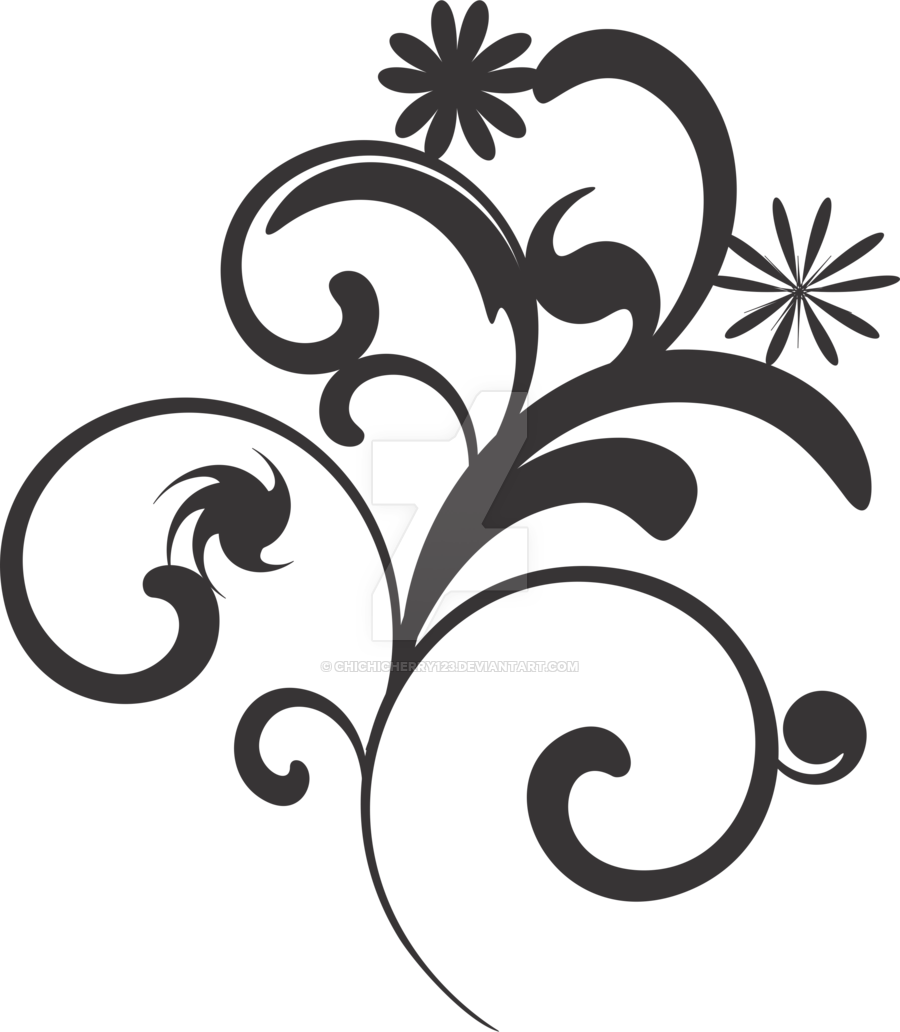 Flower Vector Black And White Png #41813.