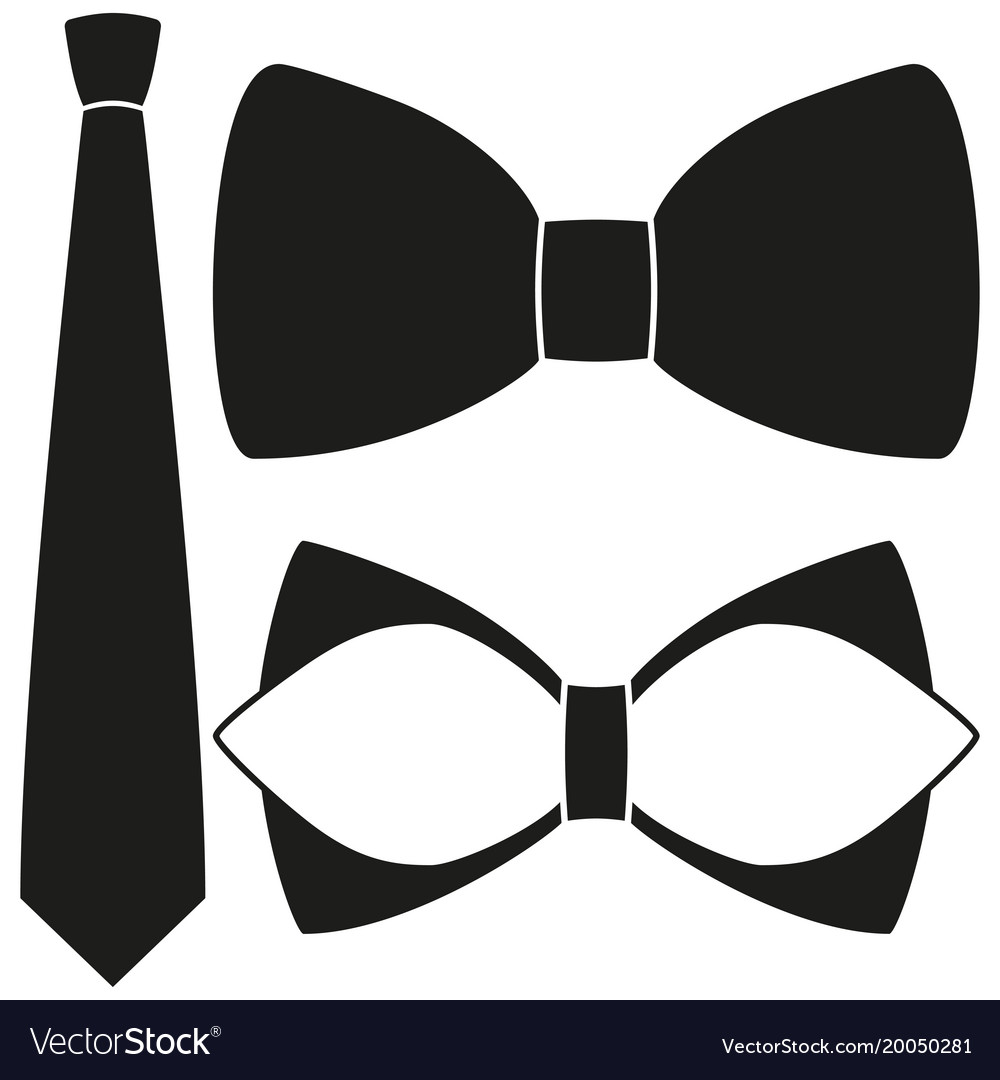 Icon poster man father dad day classic tie bowtie.