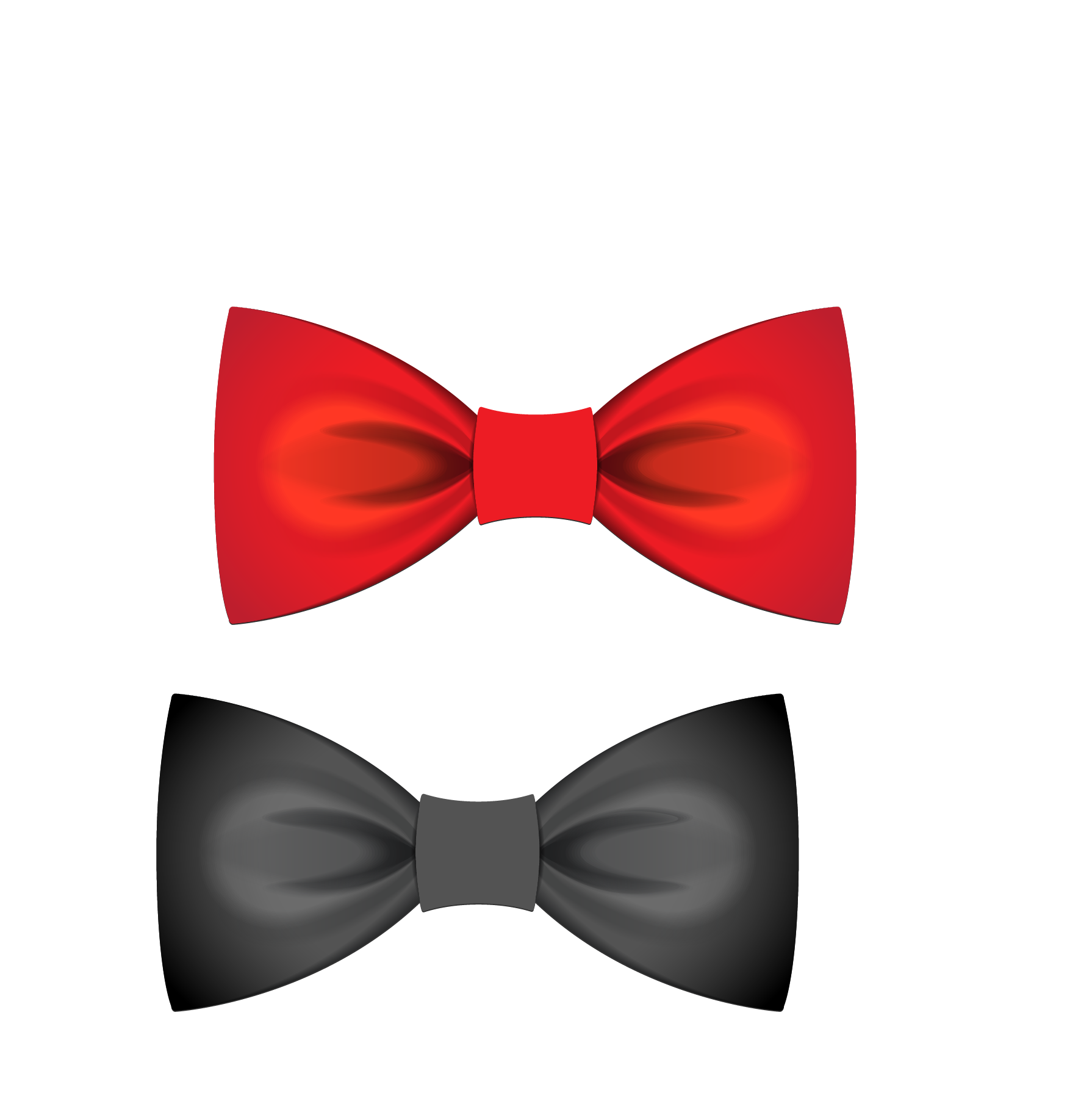 Bow tie Euclidean vector Satin Atlas Red.