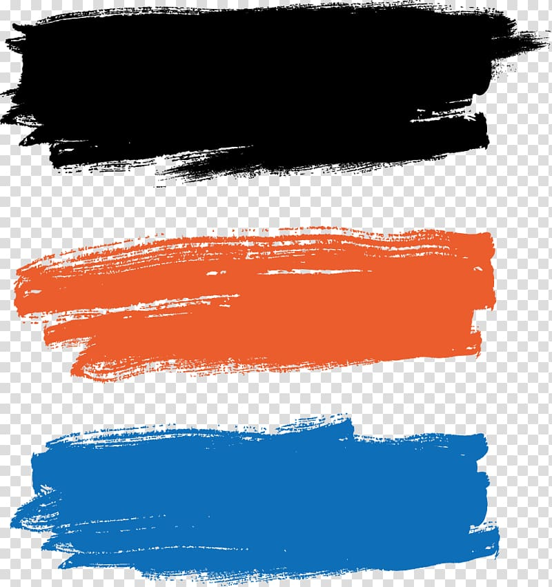 Paintbrush Painting, Paint brush illustration, black, orange.