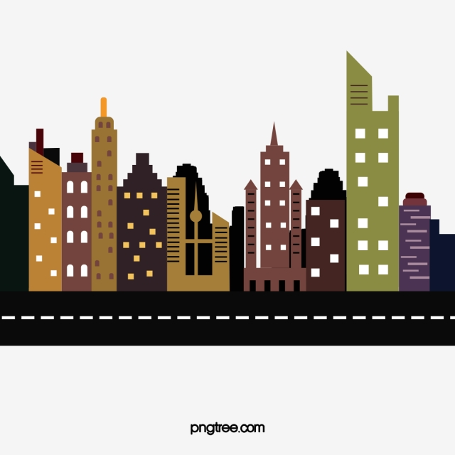 High Rise Building Vector, Building Clipart, High Rise.