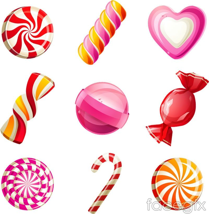 9 candy cartoon icon vector in 2019.