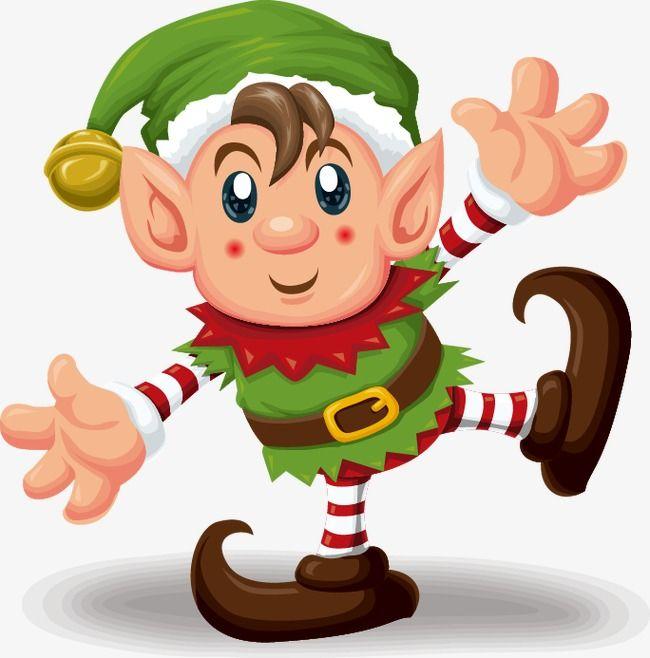Cute Cartoon Elf In Green, Cartoon Vector, Green Vector.