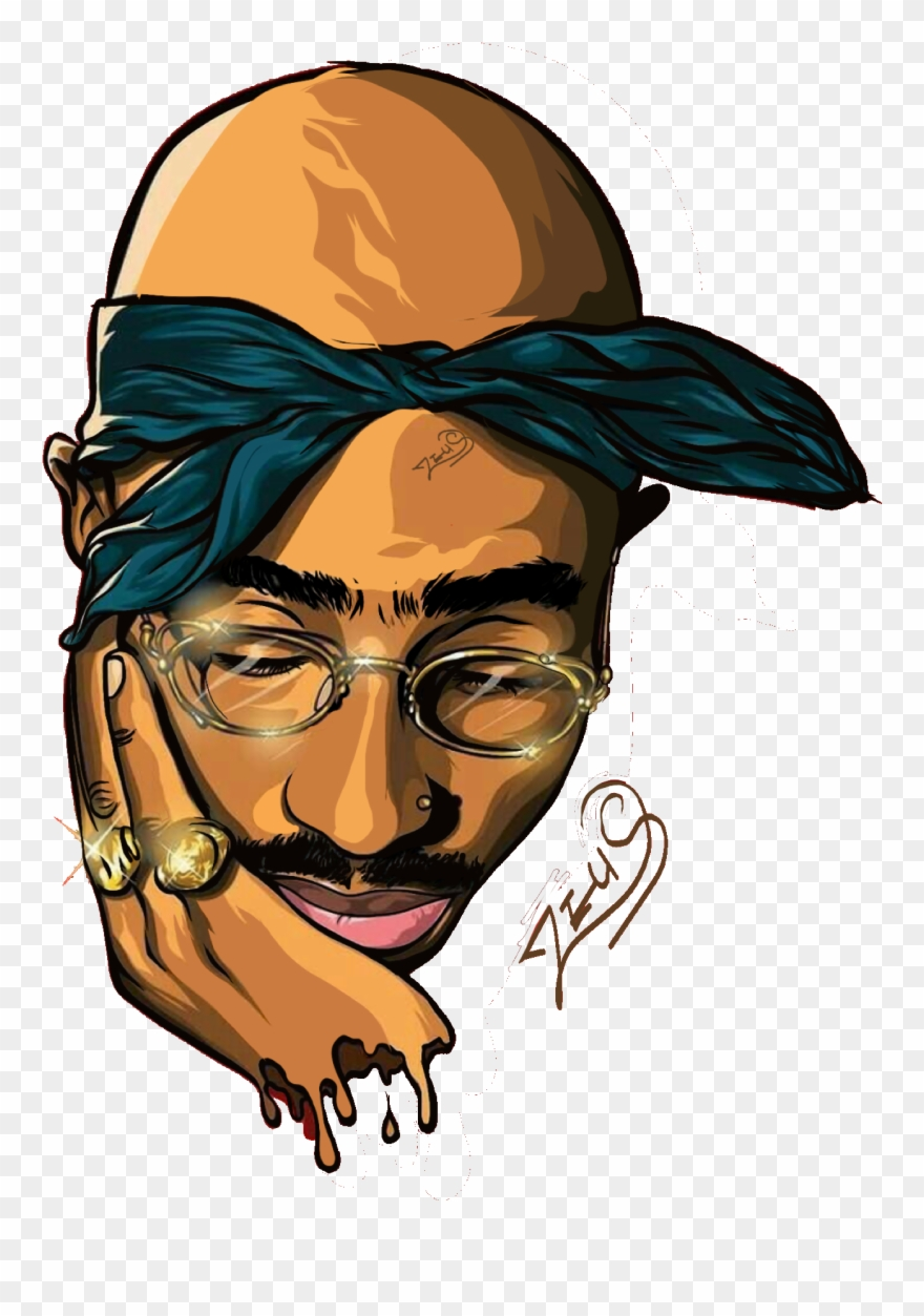 Rapper Vector Tupac Shakur Vector.