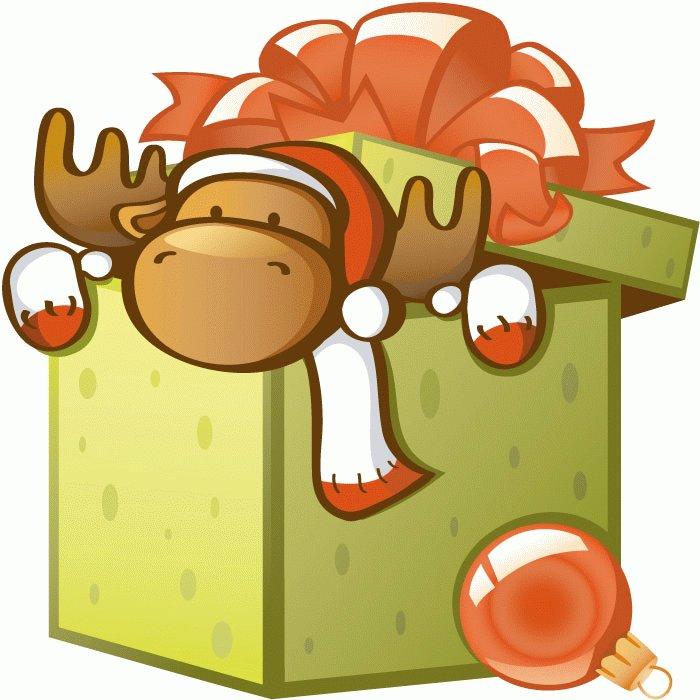 Vector Cartoon Gift Box.