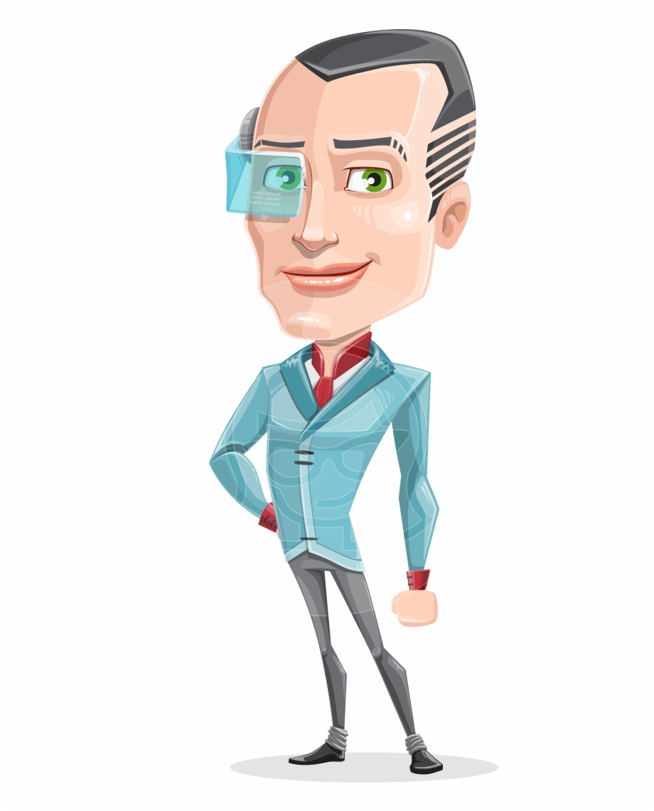 Innovative Technology Man Cartoon Vector Character.