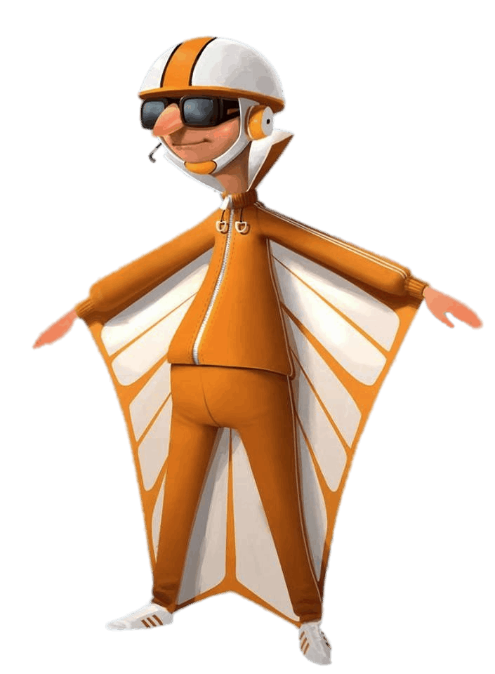 Check out this transparent Villain Vector in Wing suit PNG image.