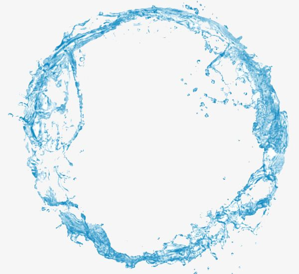 Png Border Water Picture Material, Water Clipart, Blue Water.