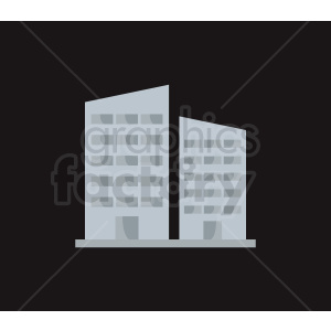 vector city building on dark background clipart. Royalty.