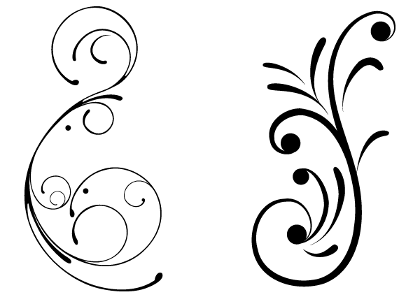 Free swirly floral vector clip art freevectors.
