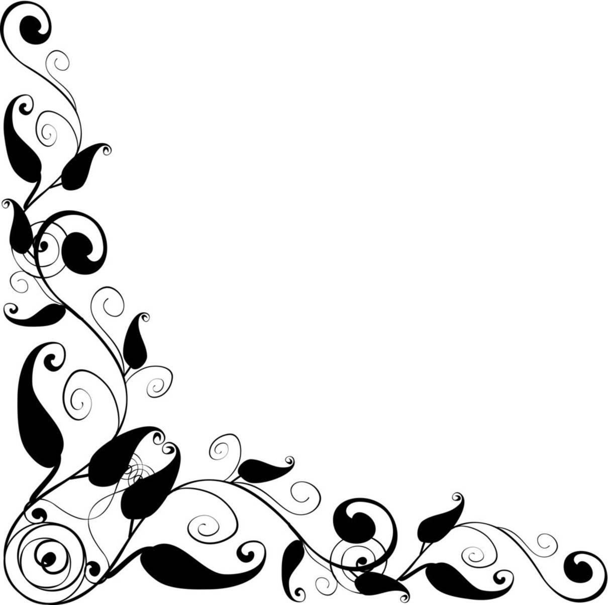 Floral Design corner frame   vector.