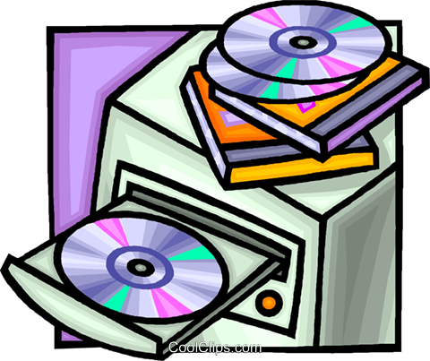 computer with a CD rom drive Royalty Free Vector Clip Art.
