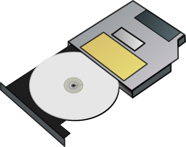 Slim Cd Drive clip art Free vector in Open office drawing.