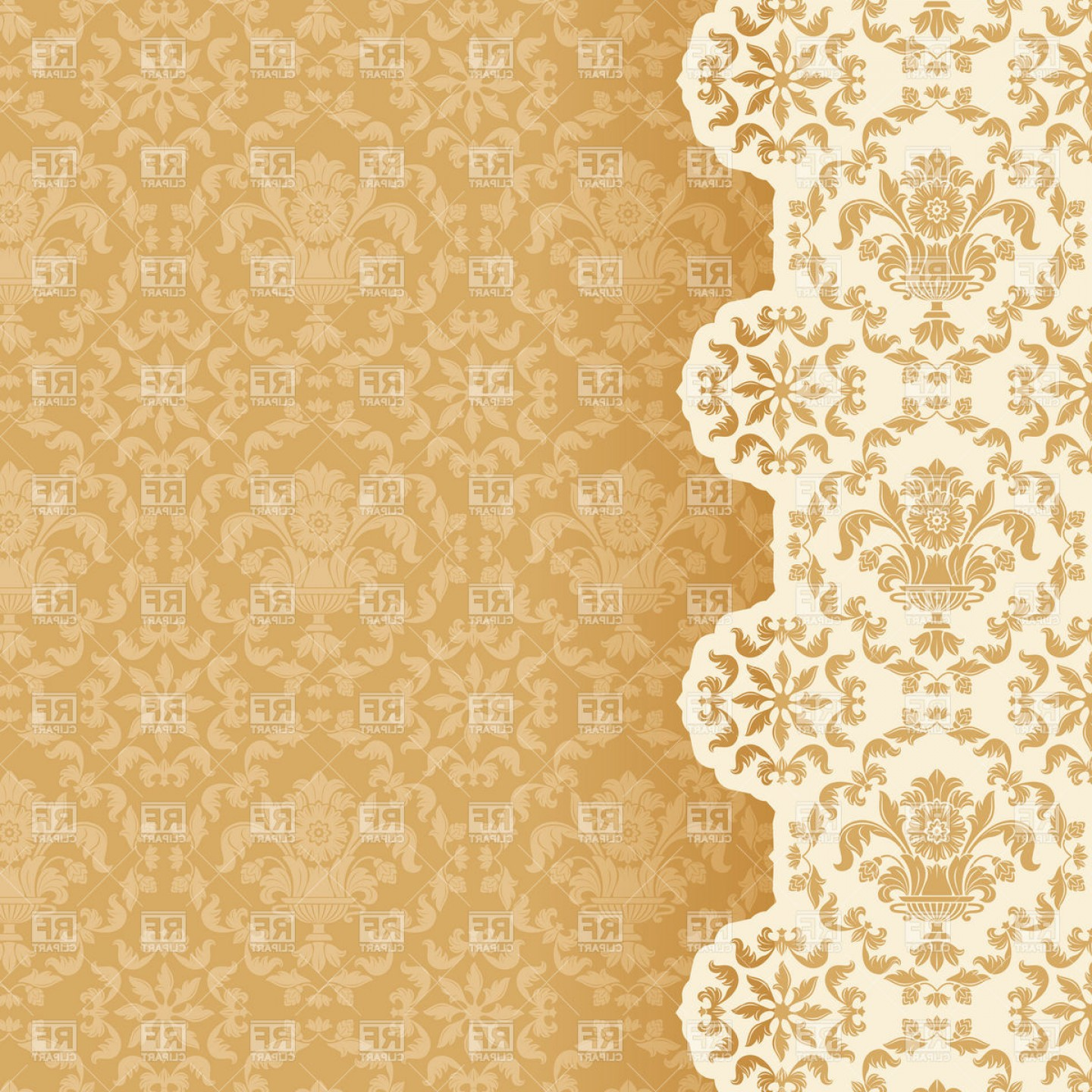 Victorian Style Wallpaper Background Vector Clipart.