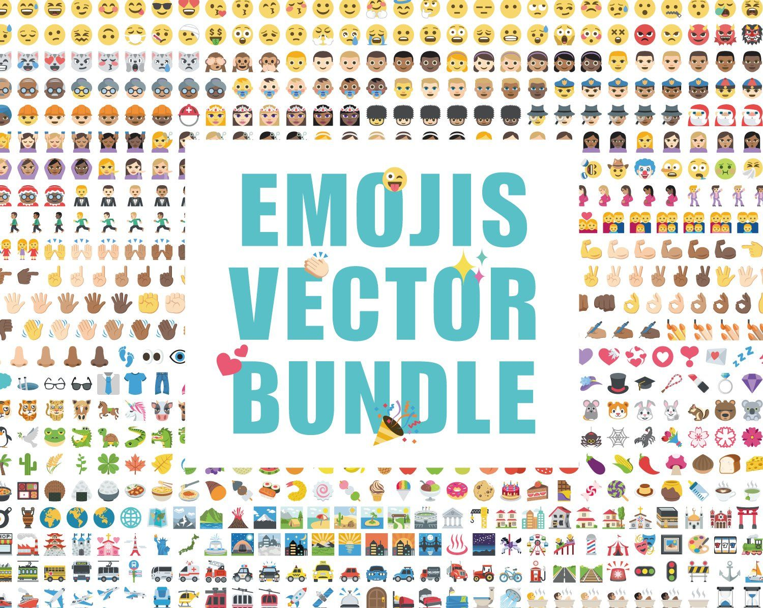 Emoji clipart vector design bundle #Ad , #AFFILIATE.