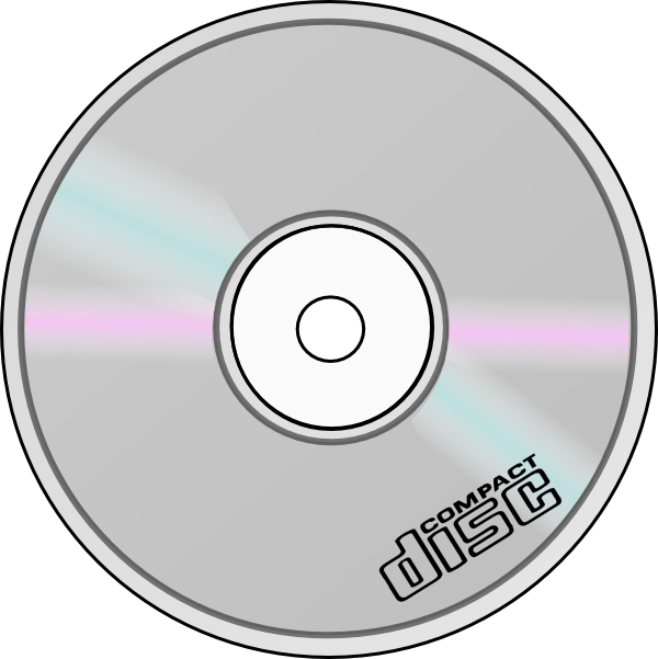 Compact Disc clip art (121232) Free SVG Download / 4 Vector.