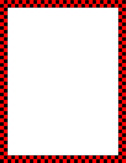 Red and Black Checkered Border.