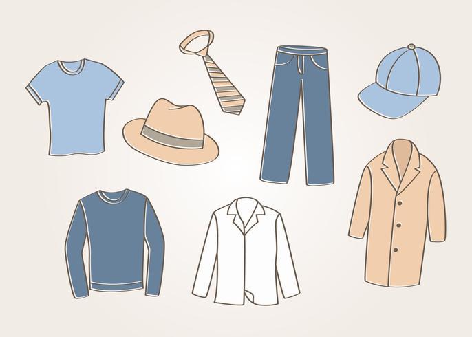 Men\'s Clothes Vector.